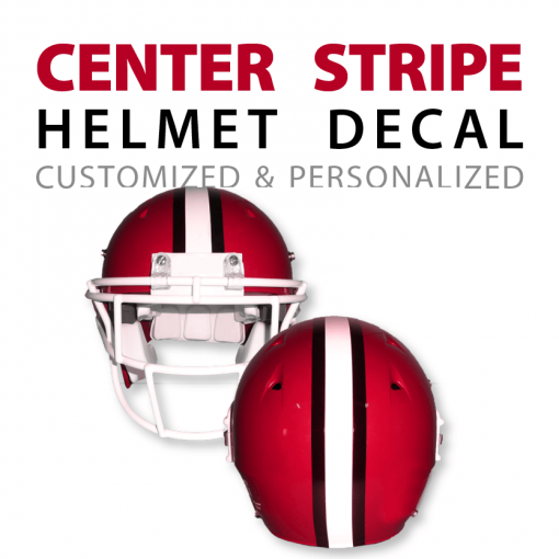 custom center stripe helmet decal stickers
