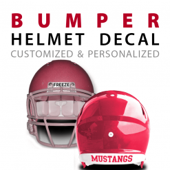 custom bumper helmet decal stickers