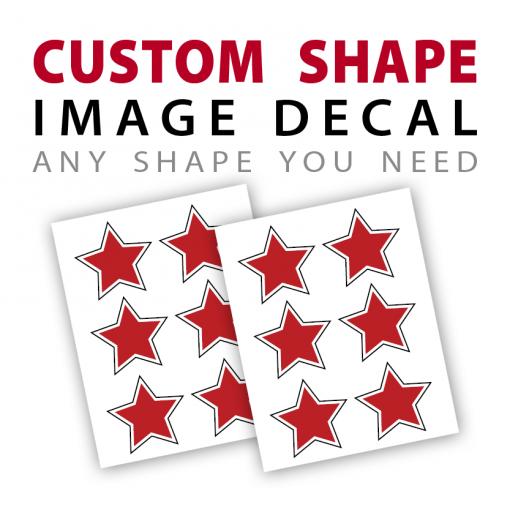custom shape image decal sticker