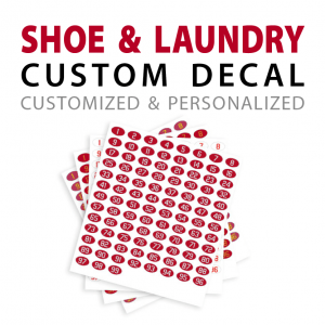 Customizable shoe and laundry decals stickers