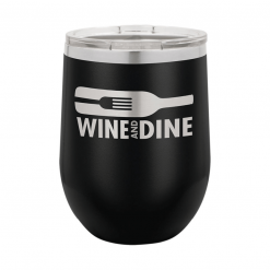 custom laser engraving wine tumbler