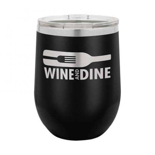 custom laser engraving wine tumbler