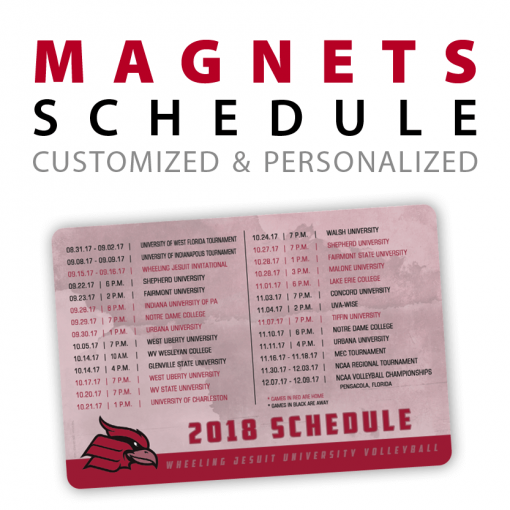 custom schedule rectangle magnets