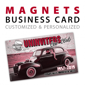 custom business card rectangle magnets