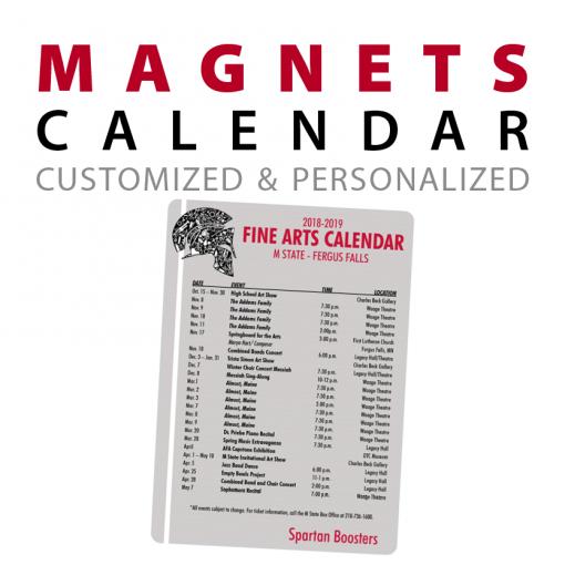 custom calendar rectangle magnets