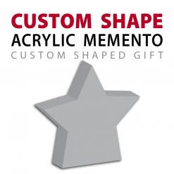 custom shape acrylic memento gift
