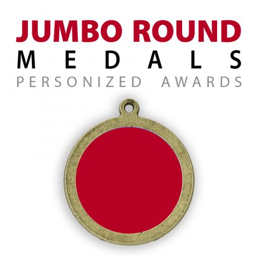 Custom jumbo round medals