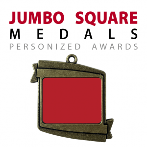 custom jumbo square medals