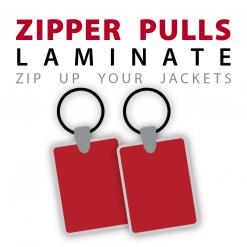 custom laminate zipper pulls