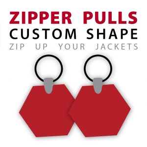 Custom Shape Profile Zipper Pulls