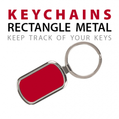 Keychains rectangle metal custom