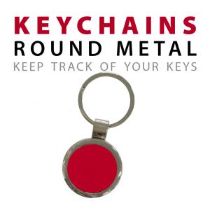 round metal keychains