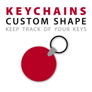 custom shape keychains