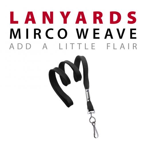 mirco weave lanyards