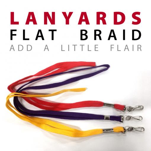 flat braid lanyards