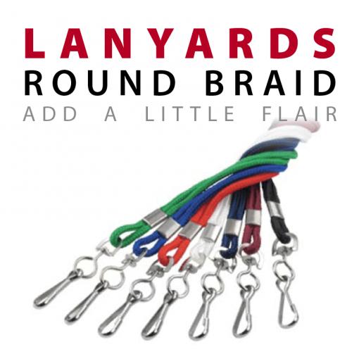round braid lanyards