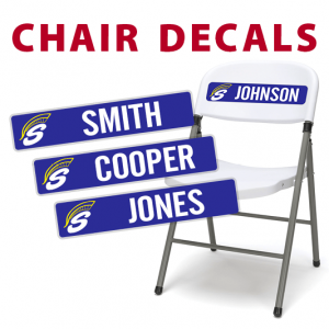 custom travel chair decals stickers
