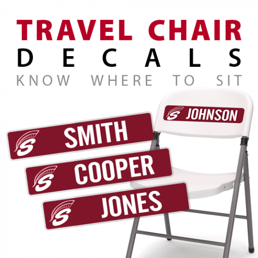 custom chair travel decals